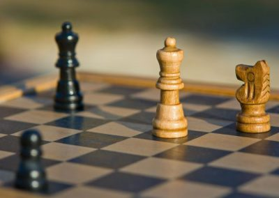 Canva - Chess Figures on Chessboard